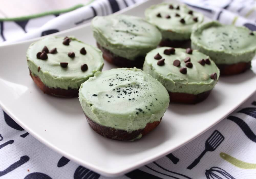 "Green no cheese ""cheesecake"" bites"